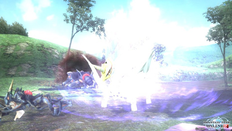 Vita版『ファンタシースターオンライン2』、βのチュートリアルを進める