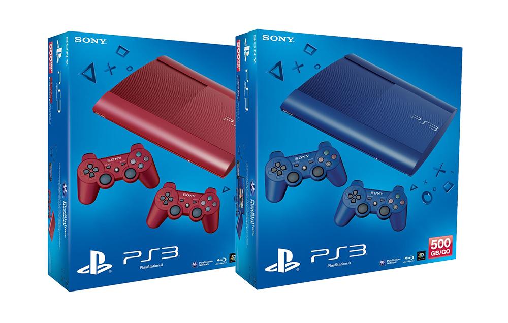 欧州で赤と青のスリムな新型PS3が登場