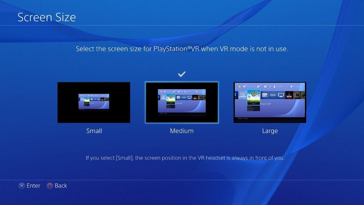 PlayStation VRゲーム以外でできること:シネマティックモード