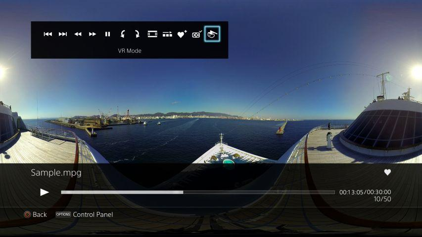 PlayStation VRゲーム以外でできること:360度動画・写真